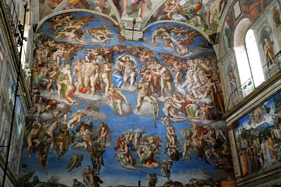 La chapelle sixtine le jugement dernier - Michel ange le plafond de la chapelle sixtine ...